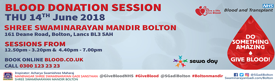 Shree Swaminarayan Mandir Bolton - Blood Donations