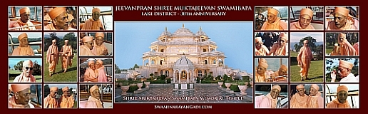 Jeevanpran Shree Muktajeevan Swamibapa Lake District - 30th Anniversary