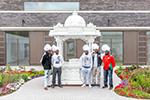 International Cricketers Visit Shree Swaminarayan Mandir Kingsbury