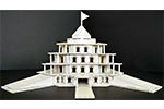 Student creates a replica of the magnificent Shree Muktajeevan Swamibapa Smruti Mandir, World Peace Centre for a school project