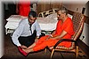 The Doctor monitors Acharya Swamishree's health.