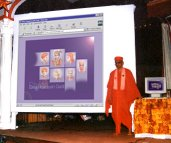 Acharya Swamishree inaugurating Shree Swaminarayan Gadi website