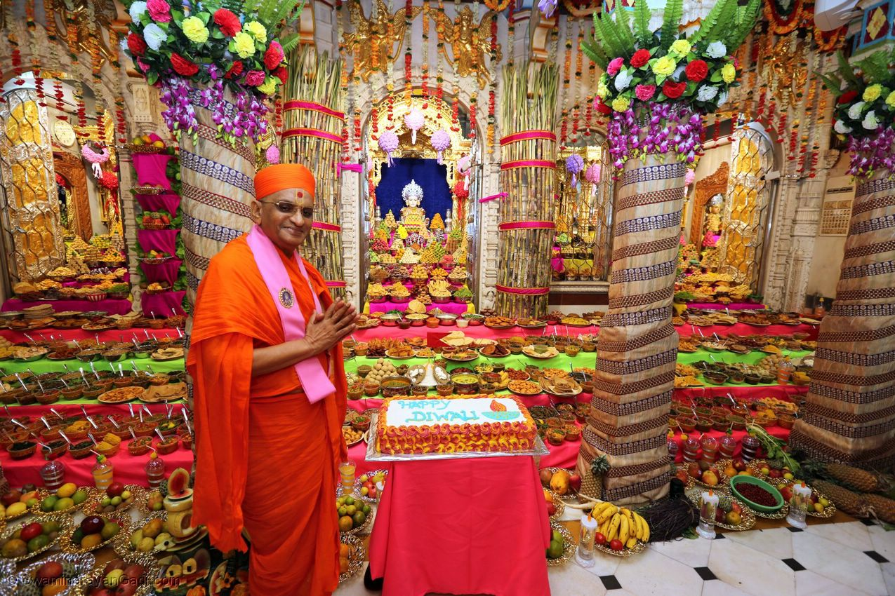 Annakut darshan at Shree Swaminarayan Mandir Maninagar