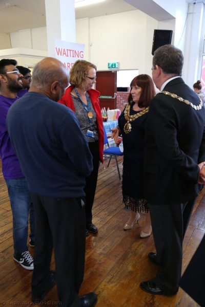 Organisers welcomed Bolton Mayor Cllr Lynda Byrne and consort John Byrne.