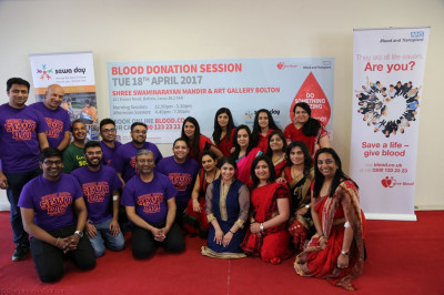 Disciples who organised and took part in the blood donation event