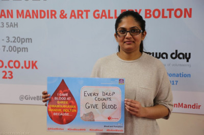 Disciples and local residents donate blood at Shree Swaminarayan Mandir Bolton