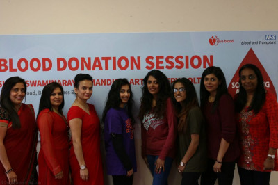 Blood donors and the organisation team