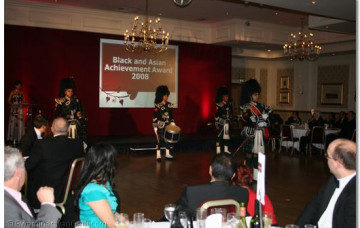Shree Swaminarayan Pipe Band wins the Black and Asian Diversity Award