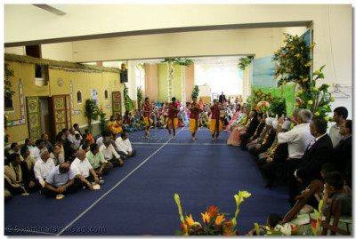 Balikas performing a classical style dance for the guests.