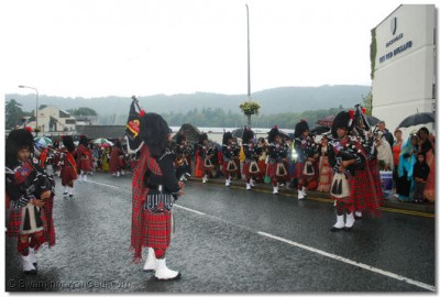 The pipe bands in performance