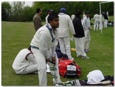 Bolton B Team prepare for batting