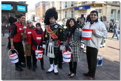Shree Swaminarayan Gadi Pipe Band & Red Cross rasing funds for Hati earthquake