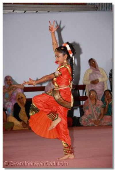 A classical dance by a young disciple