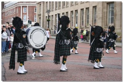 Shree Swaminarayan Gadi Pipe Band at Victoria Square, Bolton