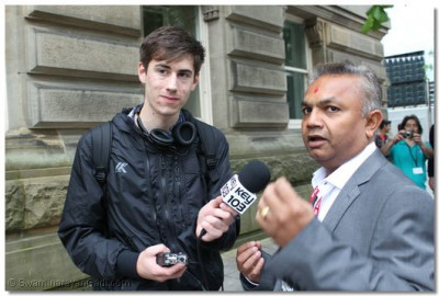 Key 103 Manchester Radio station interview a commette member of  Shree Swaminarayan Sidhant Sajivan Mandir