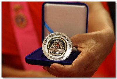 Shree Swaminarayan Gadi Pipe Band 10th Anniversary momento