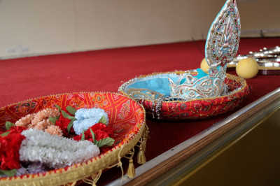 Various gifts to be presented to Lord Shree Swaminarayanbapa Swamibapa