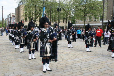 Shree Swaminarayan Gadi Pipe Band Bolton perform to raise awareness for the Nepal Earthquake