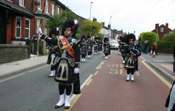 Shree Swaminarayan Gadi Pipe Band performs at Radcliffe Carnival