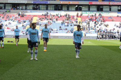 Players leave the pitch