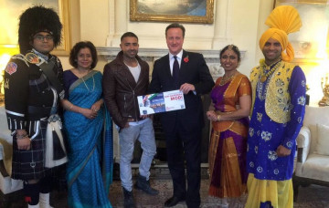 Shree Swaminarayan Mandir & Art Gallery Bolton Welcomes Modi