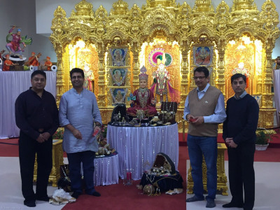 Manoj Ladwa who is responsible for Prime Minister Modi's international relations visits Shree Swaminarayan Mandir Kingsbury