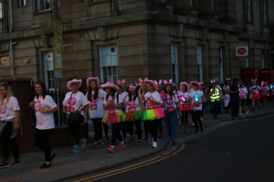 Disciples take part in the midnight walk supporting Bolton hospice
