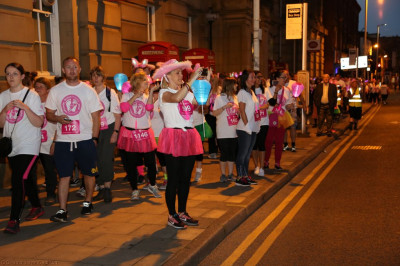 The midnight walk in support of Bolton hospice