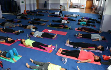 Shree Swaminarayan Mandir Bolton held a Yoga session on the 25th June 2017
