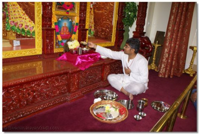 Devotees performing Mahapuja on Dhanteras(First Day of Diwali Celebration)