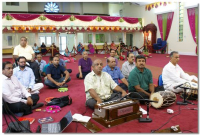 Disciples gathered at LA Mandir for Gurupoornima Celebration