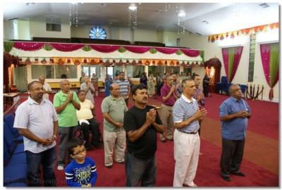 Disciples gathered at LA Mandir for Janmashtami Celebration