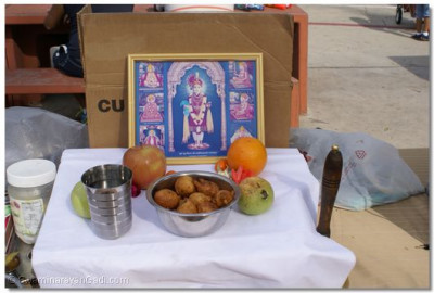 Refreshments offered to Lord Shree Swaminarayan