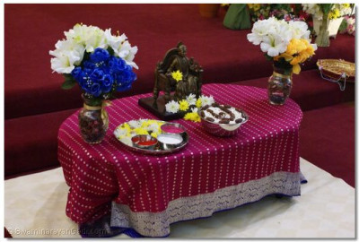 Prasad prepared with Dhaani and Khajoor(Dates) offered to Lord Swaminarayan