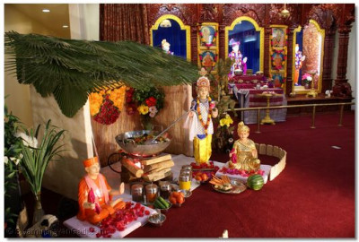Hut decorated for Lord Shree Swaminarayan for preparing Ringan nu Shaak (Bringle Curry)