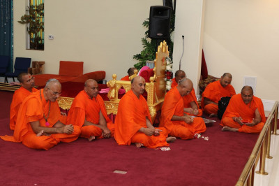 Sant mandal and disciples participating in Patotsav ceremony