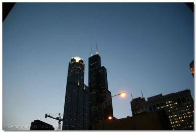 A view of the world-renowned Sears Tower