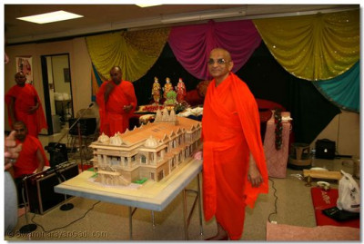 Acharya Swamishree inaugurates the model of the new temple