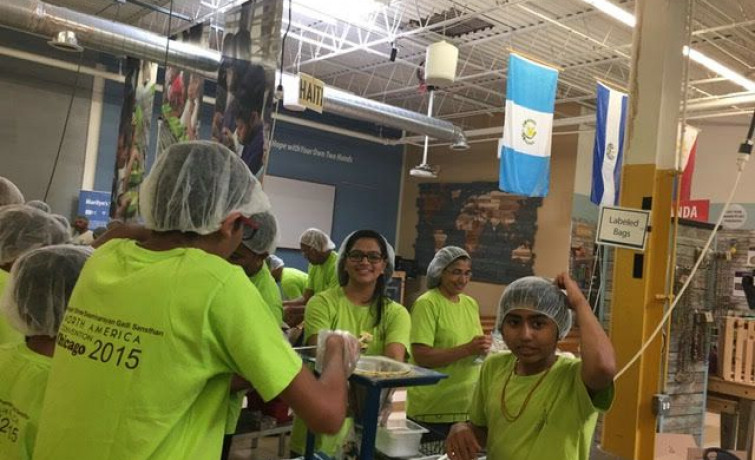 Shree Swaminarayan Gadi Sansthan Maninagar is celebrating the auspicious 75th  Manifestation - By helping 'Feed My Starving Children