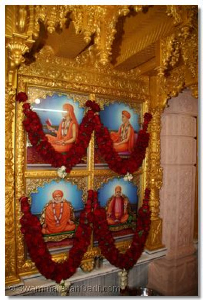 The divine murtis in the new sinhasan