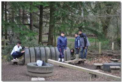 Tyre Challenge - building on teamwork and communication skills