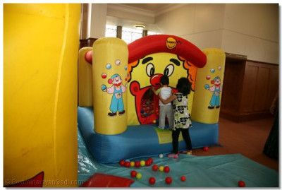 Bouncy castle for the younger children