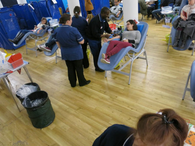 Trained NHS staff attend all blood donors