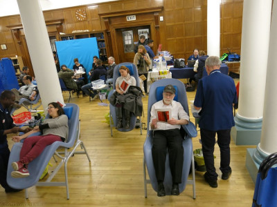 Disciples and members of the public donate blood