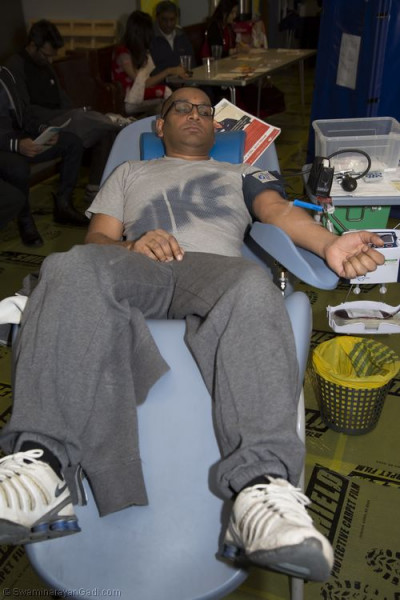 A disciple giving blood