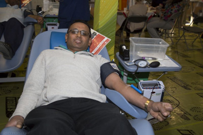 A disciple donating blood