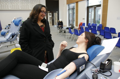 Local residents donate blood