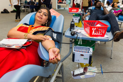 World Blood Donor Day donations at Shree Swaminarayan Mandir Kingsbury