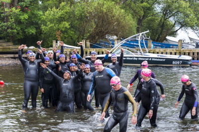 On Sunday 15th June, 14 swimmers from Shree Swaminarayan Mandir Kingsbury joined the thousands plunging into the cold waters of Lake Windermere for the Great North Swim