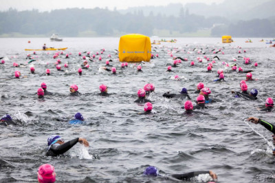 Hundreds of swimmers from around the UK begin the challenge